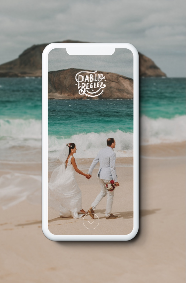 CloudSpot wedding picture on app