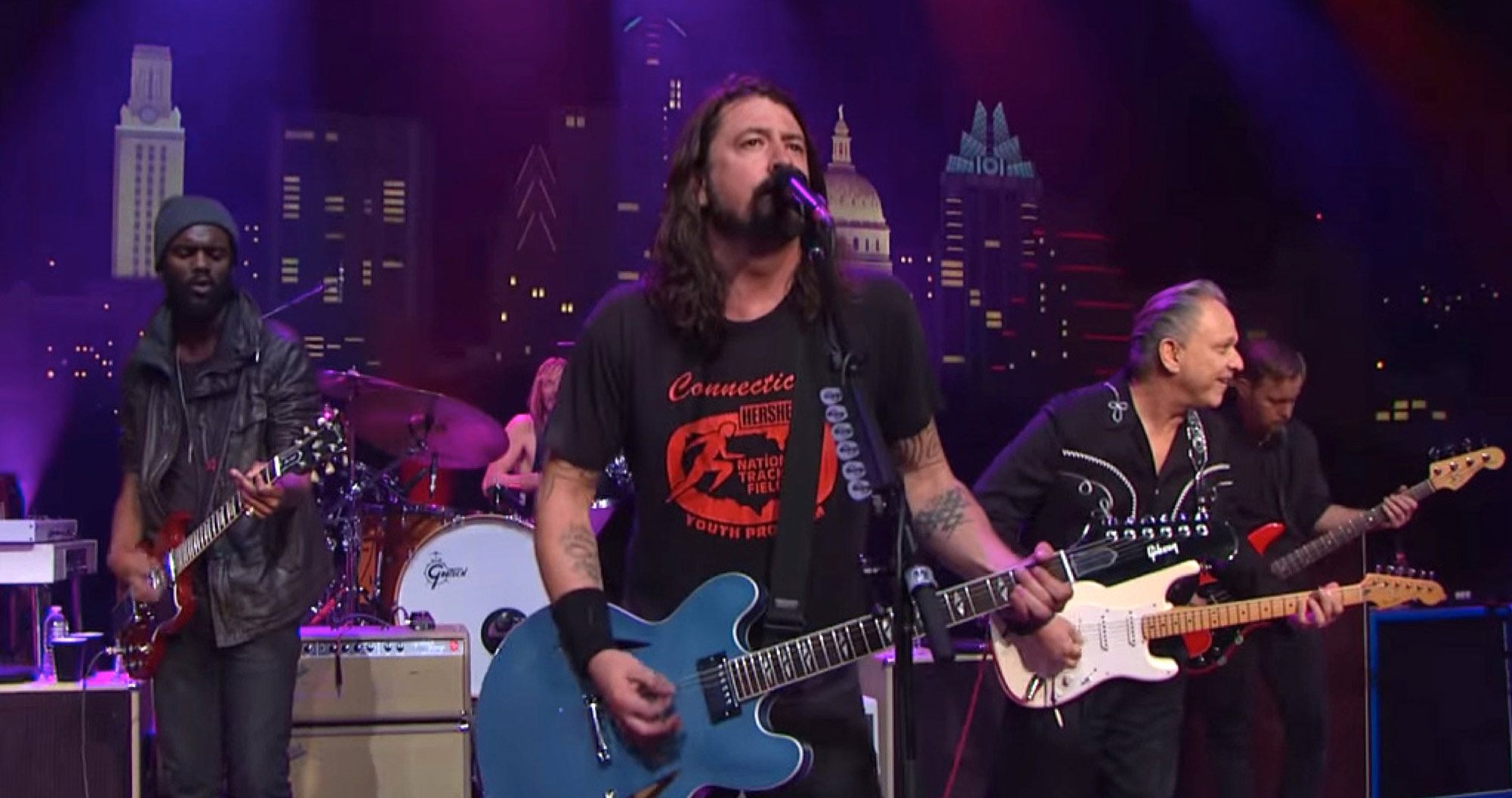 Foo Fighters with Gary Clark Jr and Jimmie Vaughan at Austin City Limits