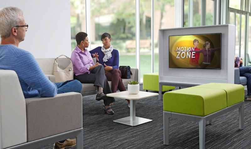 viewing a medical program in a waiting room