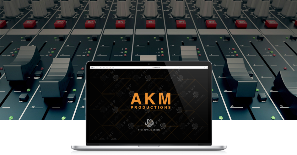 mixing board, AKM Productions