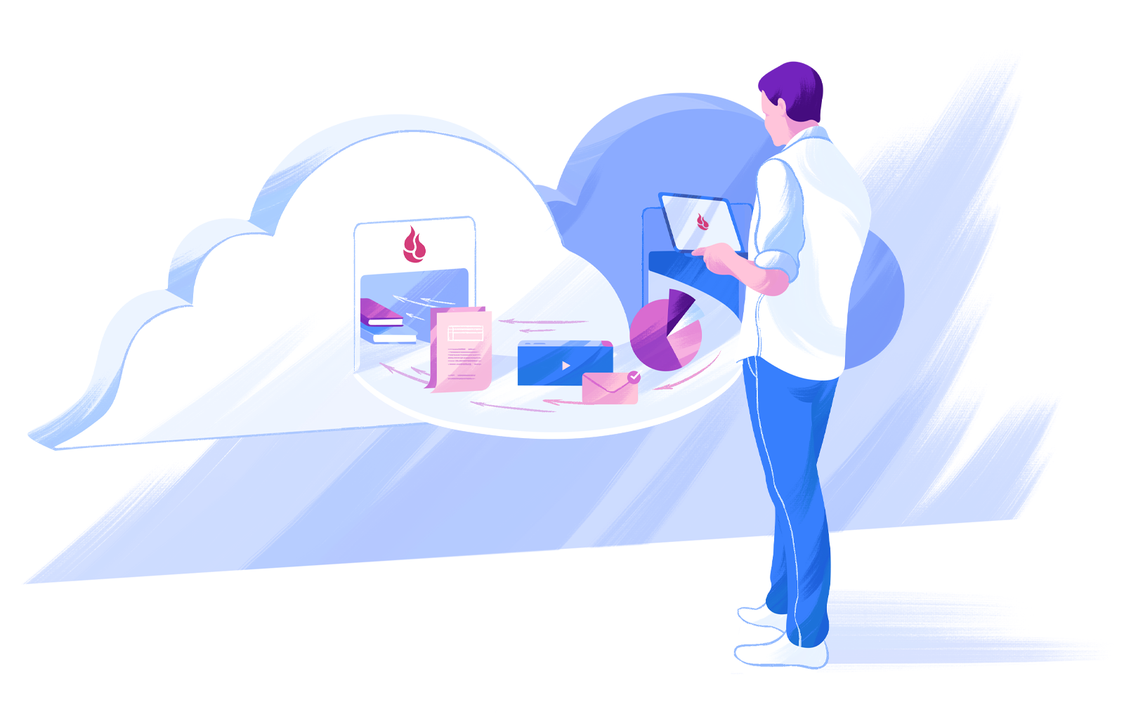 B2 Cloud to Cloud Hero Illustration