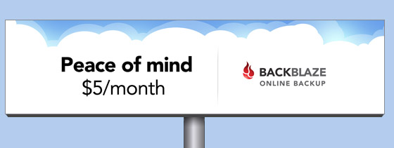 online backup billboard peace-of-mind