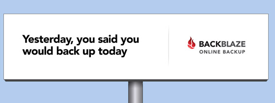 online backup billboard yesterday-said-backup