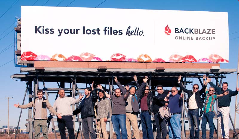 Billboard with employees