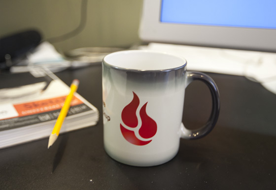 White Backblaze Mug