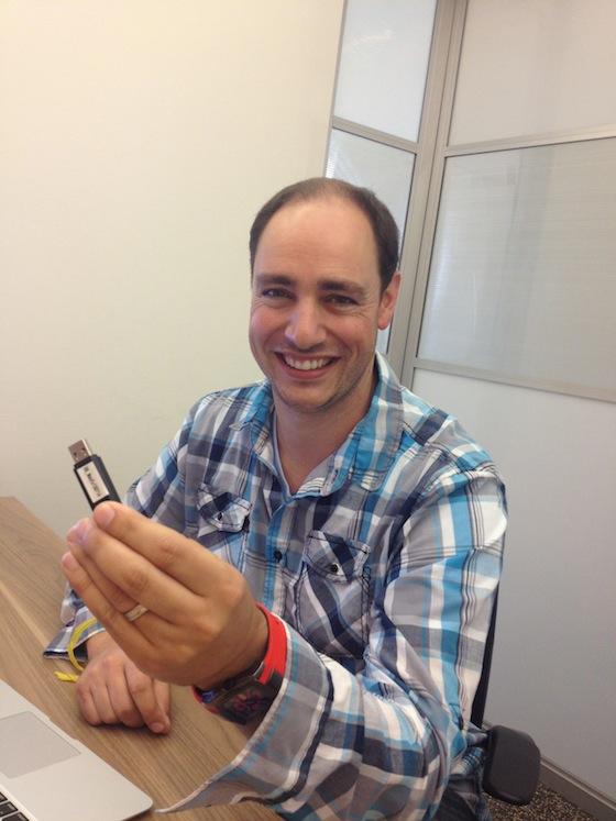 Benjamin Levy with his Backblaze restore