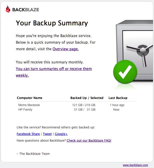 R2.5 backup summary