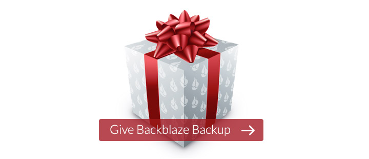 Give Backblaze Backup