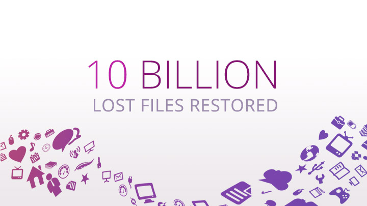 10 billion files recovered
