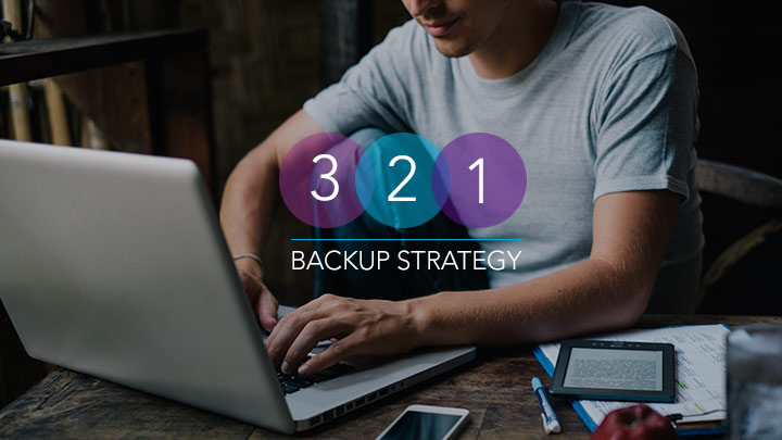 3 2 1 Backup Srategy illustrative yet unimportant image