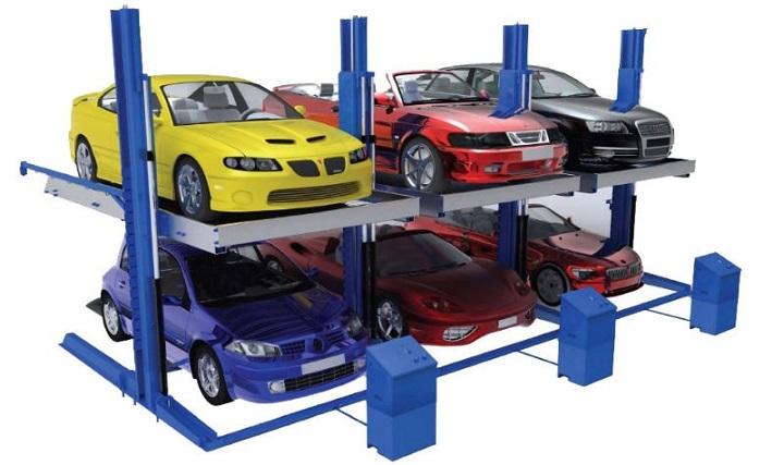 A 3-car car lift.