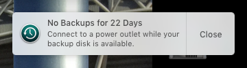 22 days - no time machine