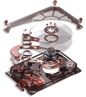 Hard Drive exploded view