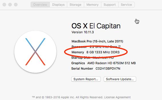 How much RAM - Mac OS