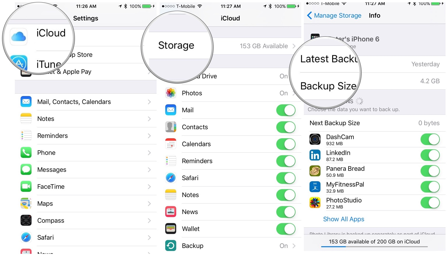 How to upload photos to icloud from iphone 6 plus