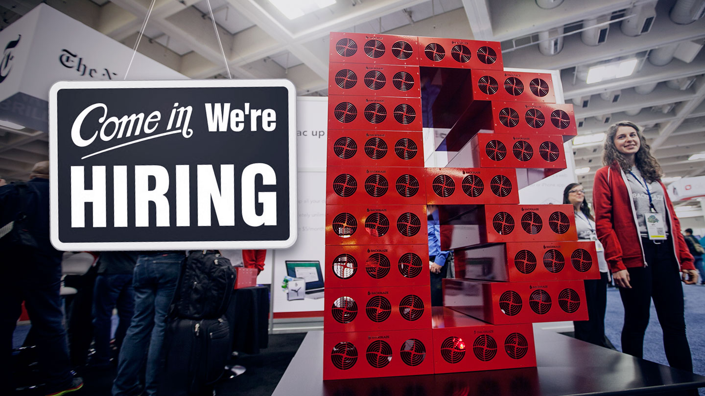 Backblaze Marketing is Hiring