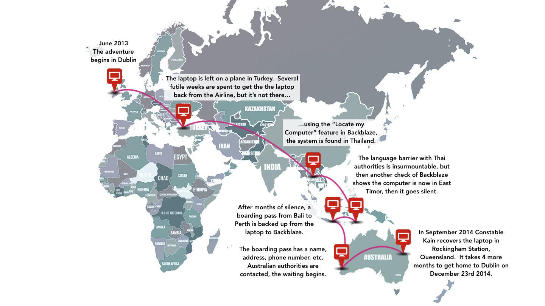 Lost Laptop World Map