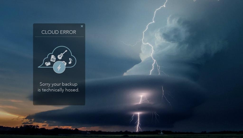 cloud backup error