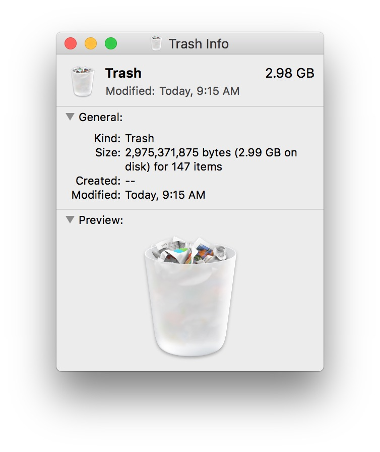 Full Trash on computer