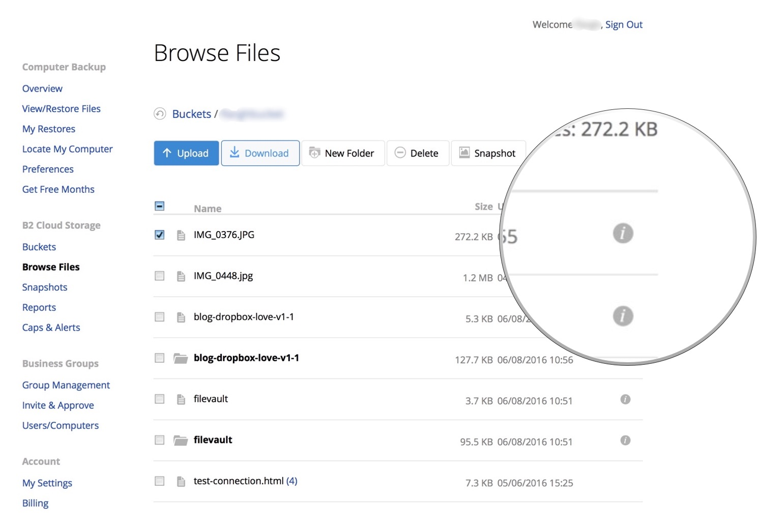B2 for Beginners: Inside the B2 Web interface