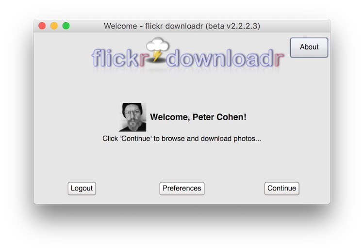 Flickr Downloadr screenshot