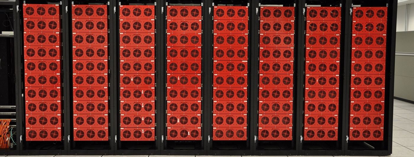 Full cabinets at Backblaze Data Center