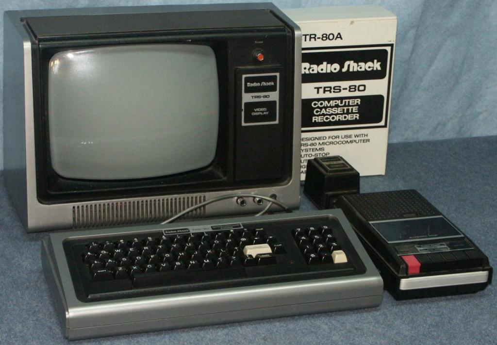 TRS-80 w cassette drive