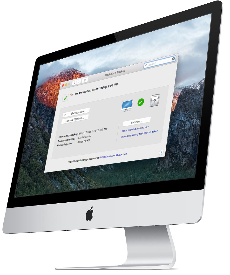 iMac backup screenshot