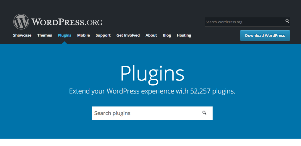 screenshot of WordPress plugins search