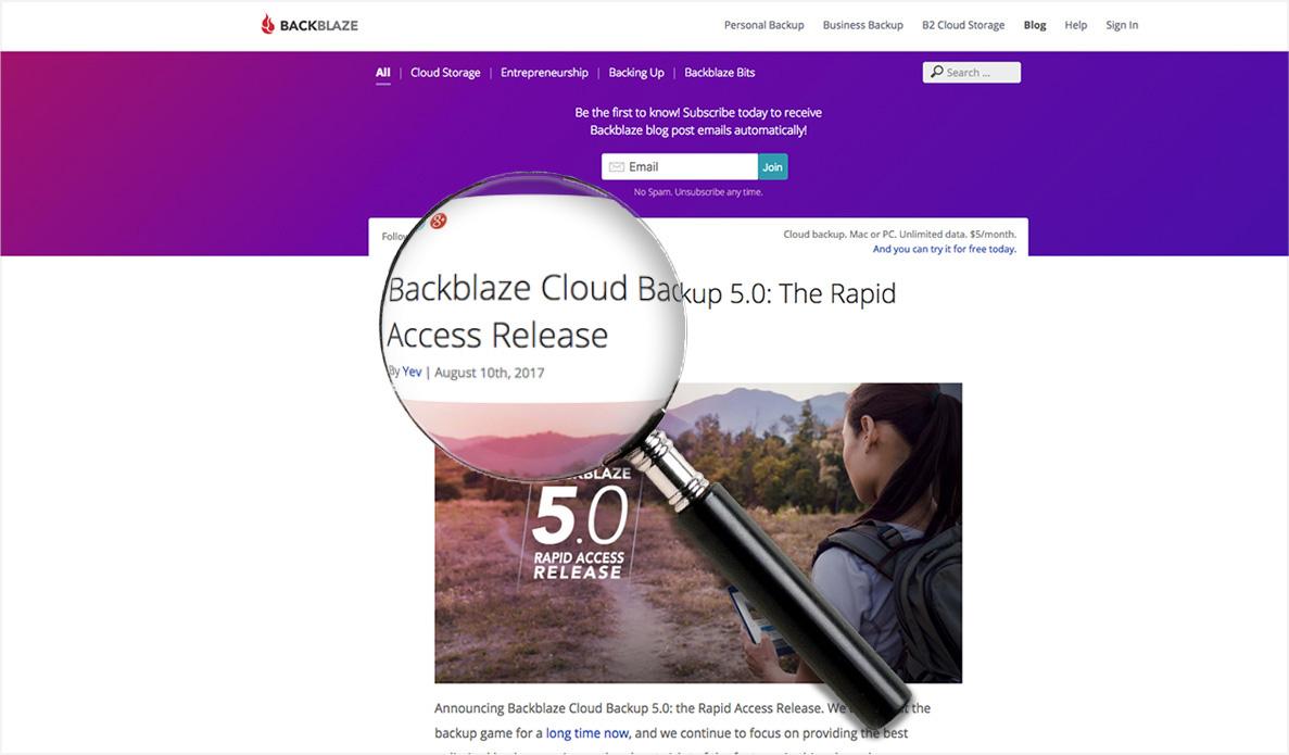 Improved Search for Backblaze's Blog