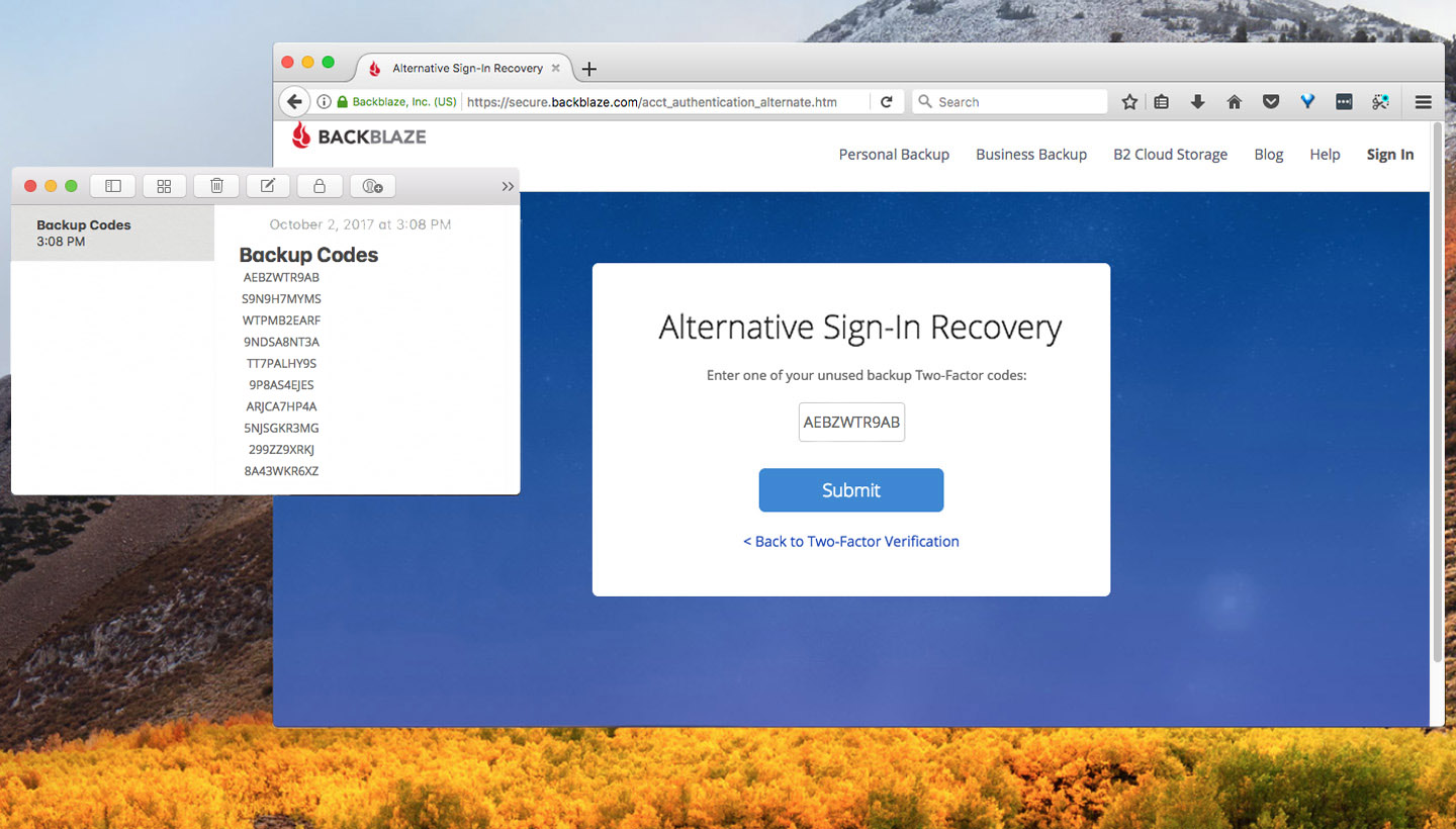 How to Use Two Factor Authentication on Backblaze