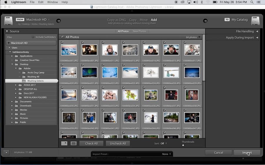 Adobe Lightroom screenshot