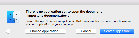 MacOS error message