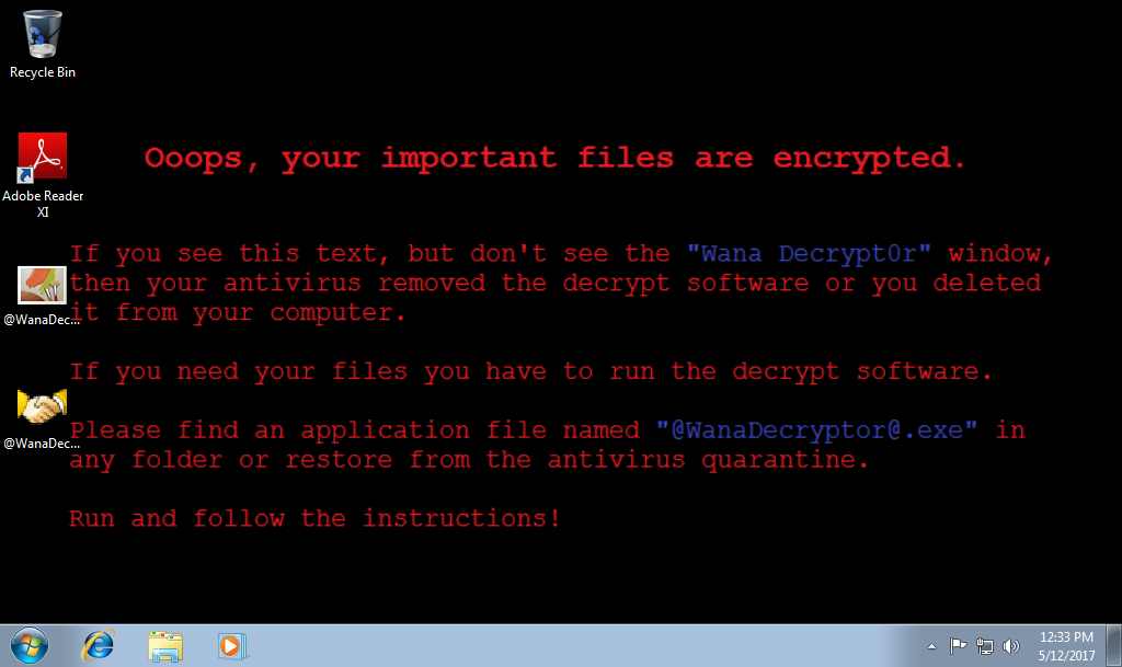 wana decrypt0r ransomware message