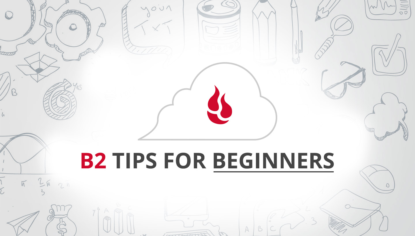 B2 Tips for Beginners