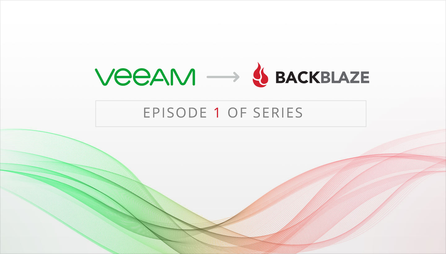 Veeam Cloud Connect to Backblaze B2