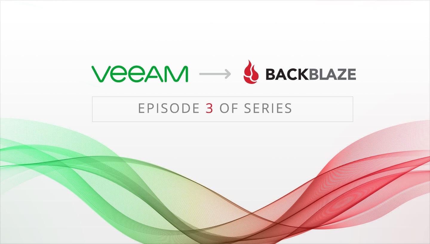 Veeam to B2 Backup series