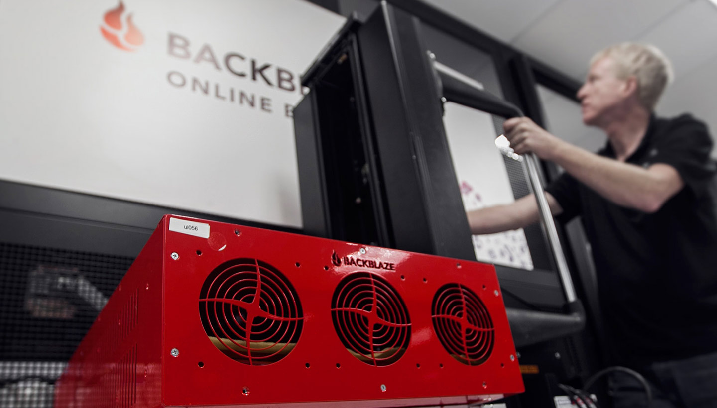 Backblaze storage pod in new data center