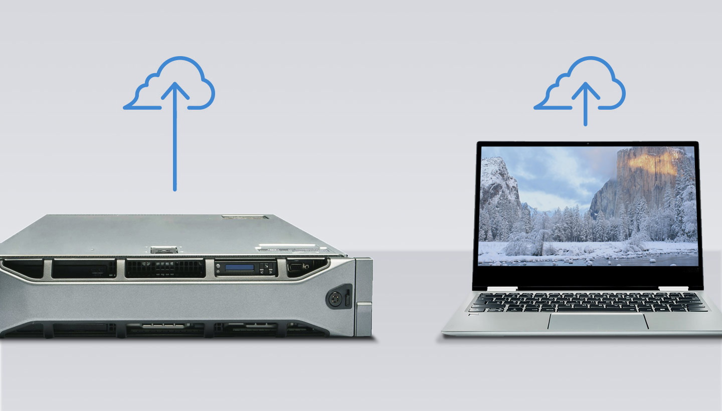 server and computer backup to the cloud