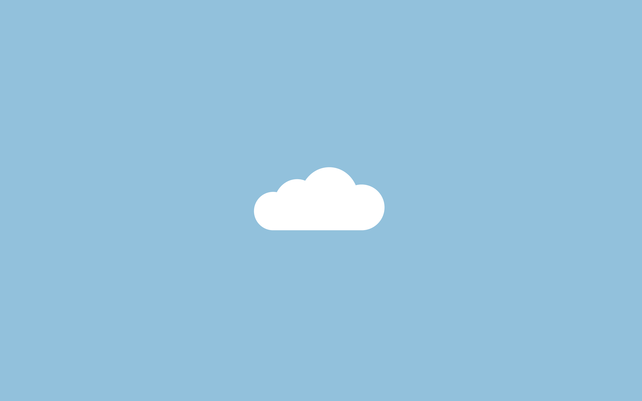 cloud on a blue background