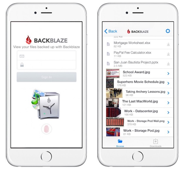 Backblaze Smartphone app (iOS)