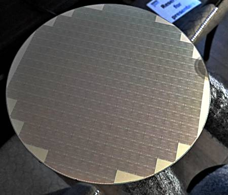 QLC NAND wafer from which individual microcircuits are made