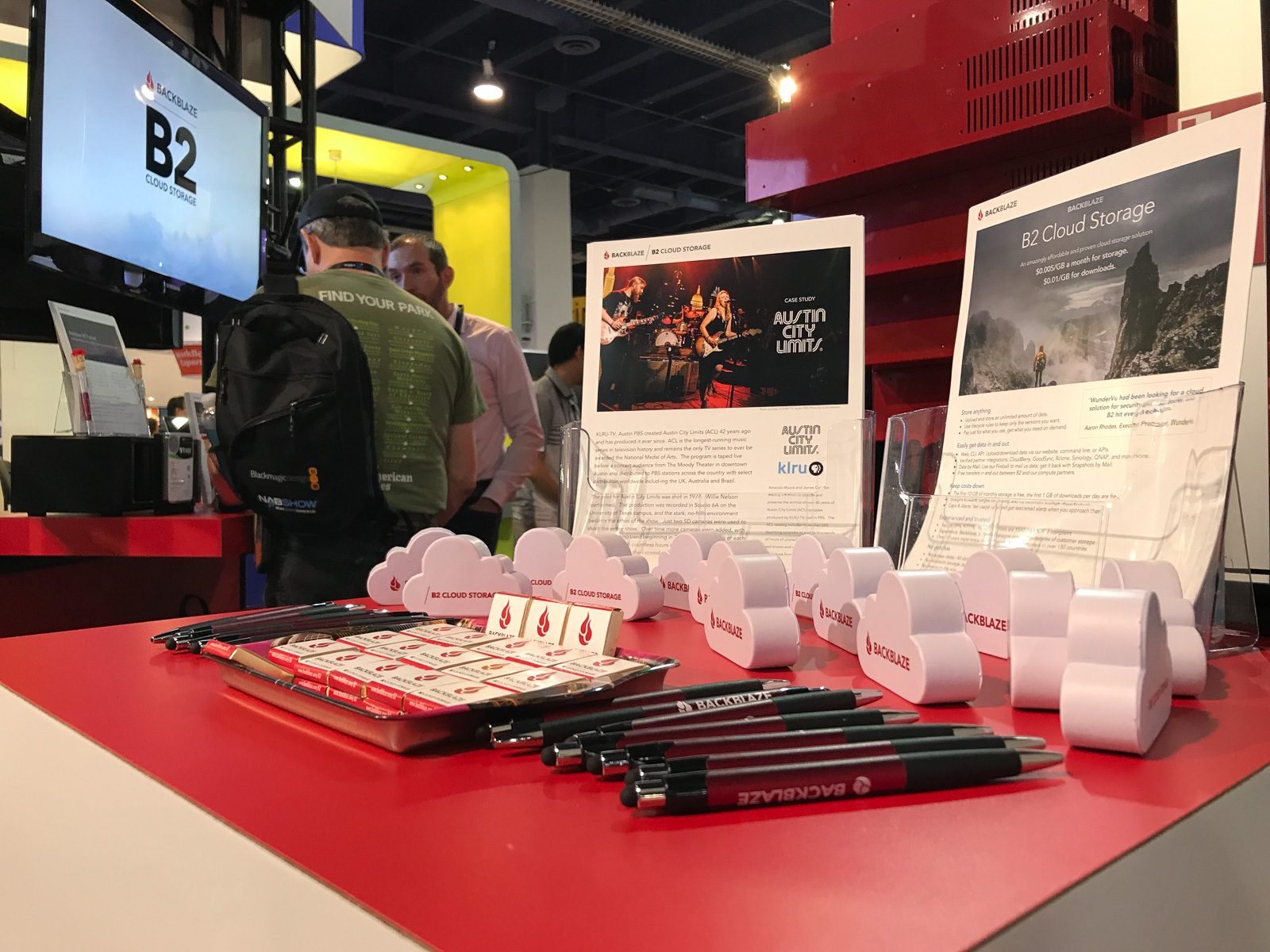Backblaze Case Studies and Swag at NAB 2018 in Las Vegas
