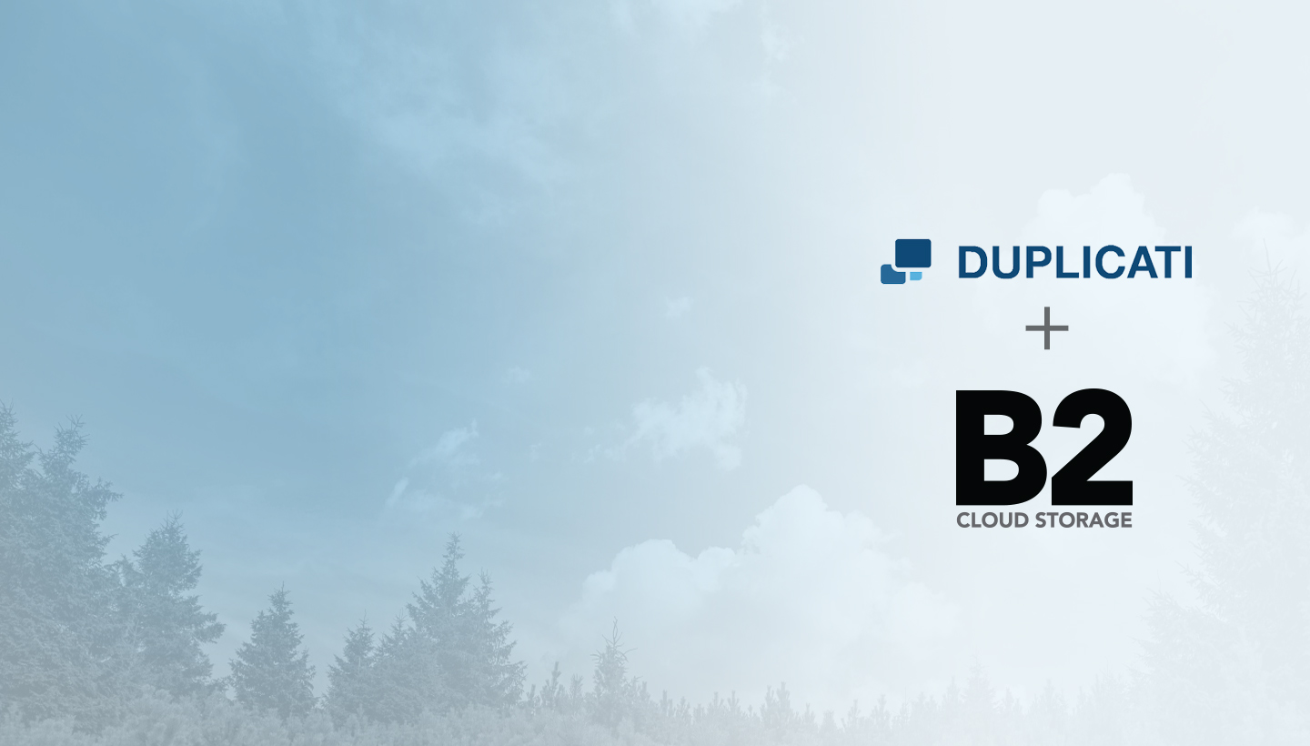 Duplicati Backups + B2 Cloud Storage