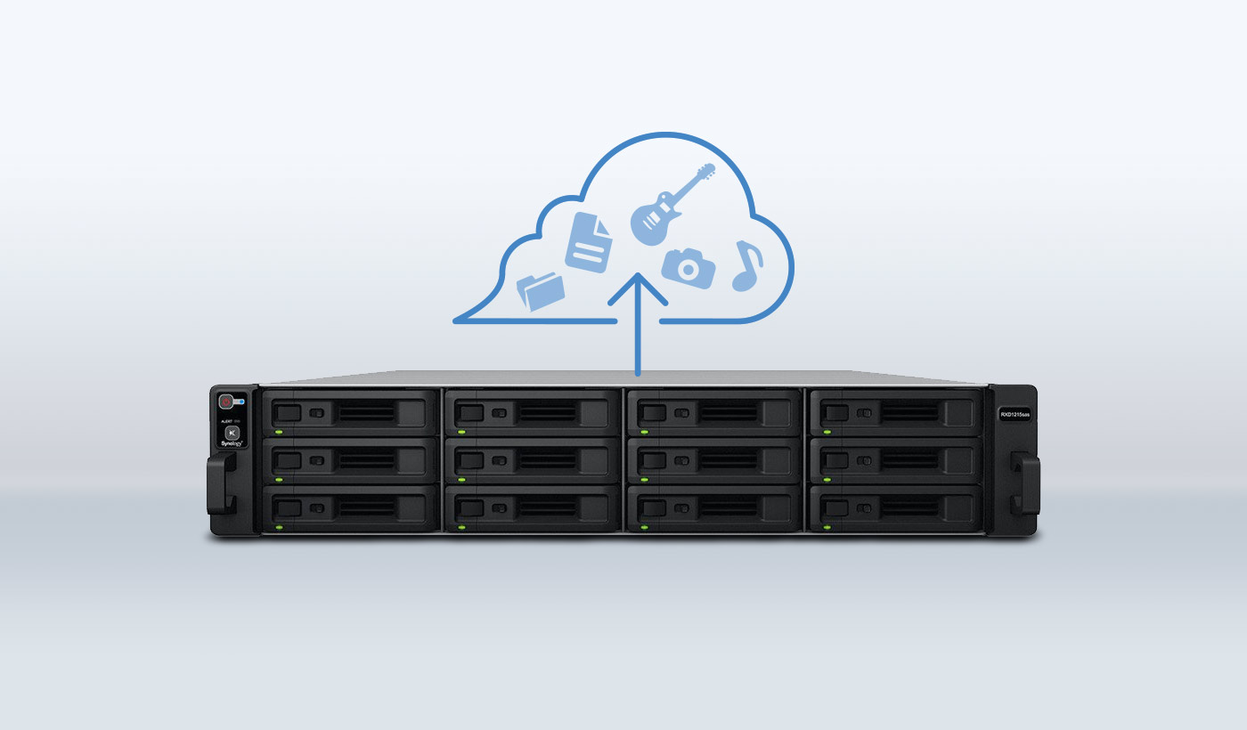 Synology NAS boxes backed up to the cloud