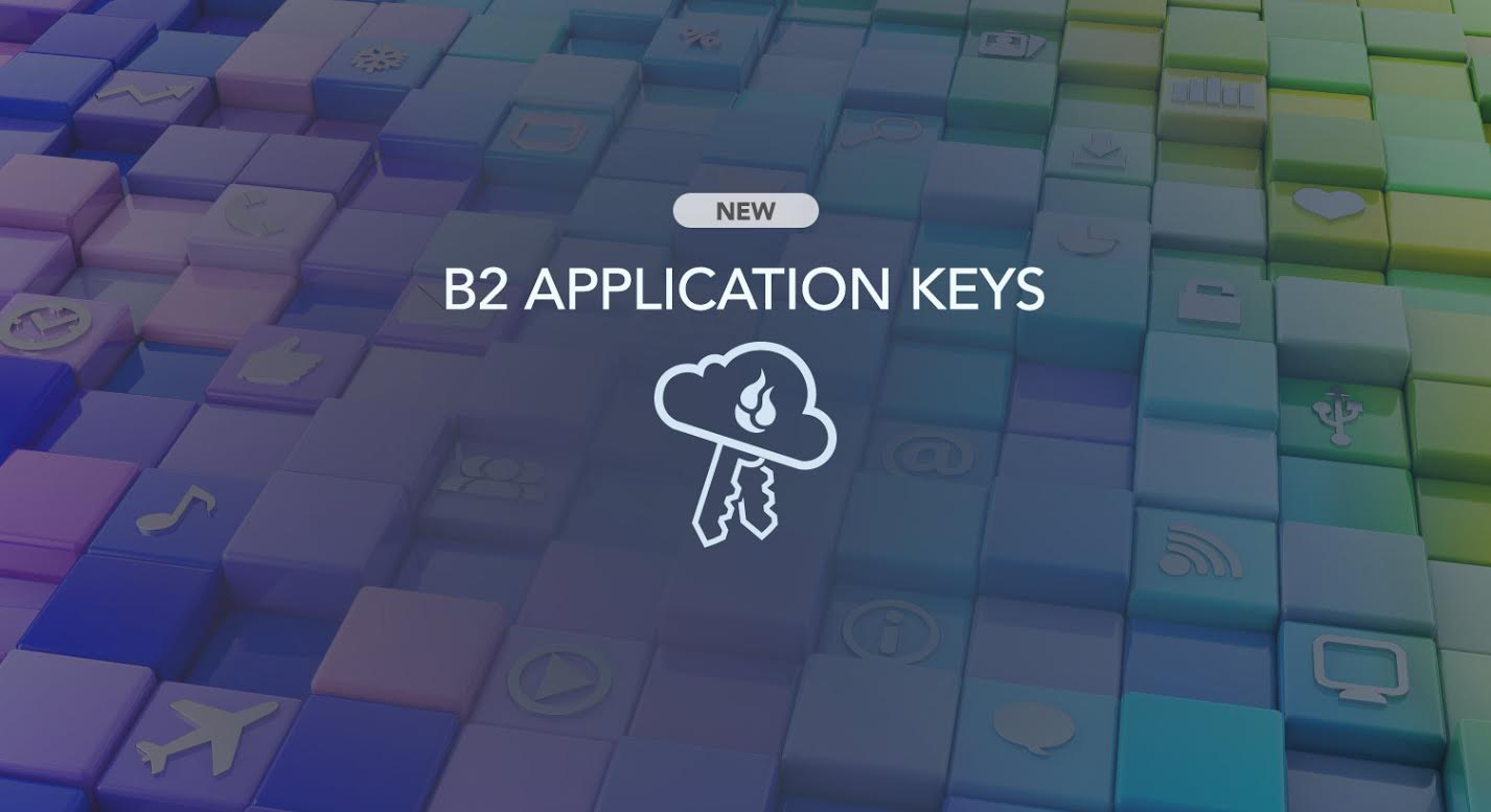 B2 Application Keys