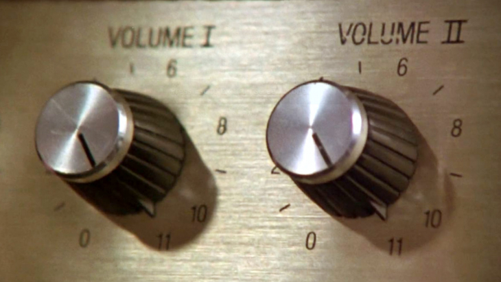 volume knobs with one going to 11