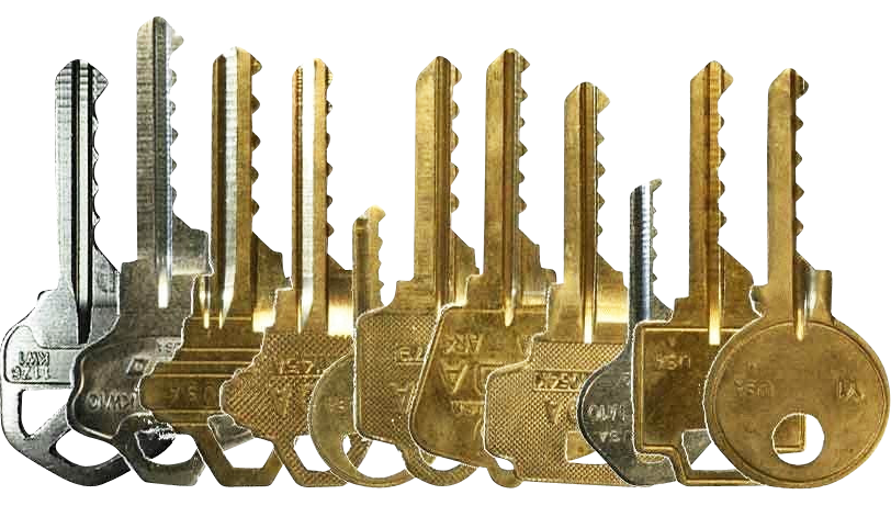 row of keys
