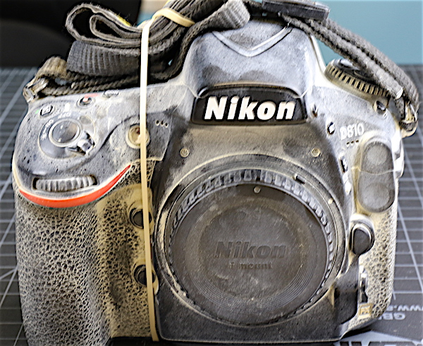 Burning Man damage to Nikon camera
