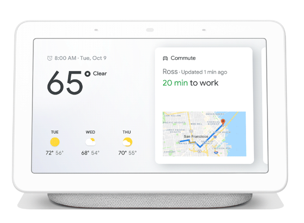Google Home Hub screen shot